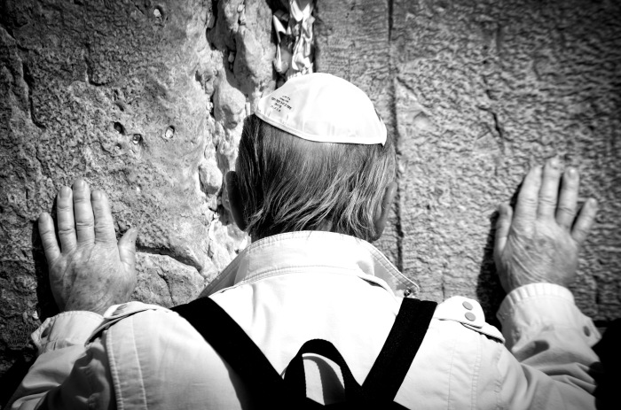 Taken at the Wailing Wall in Jerusalem.