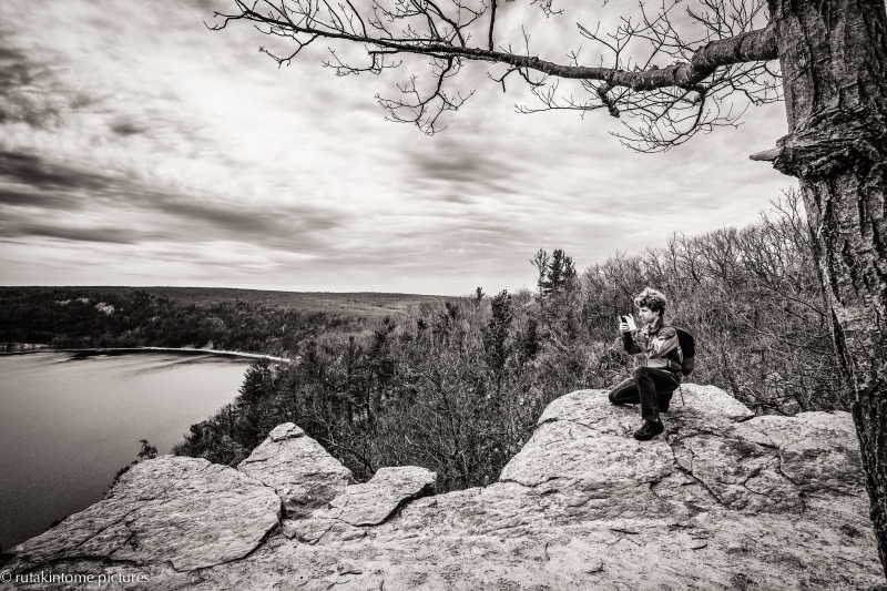 This post is to honor my oldest son on his 25th birthday. This was taken back in April when we went exploring and hiking in Wisconsin. I am the very proud father of this fine young man.
