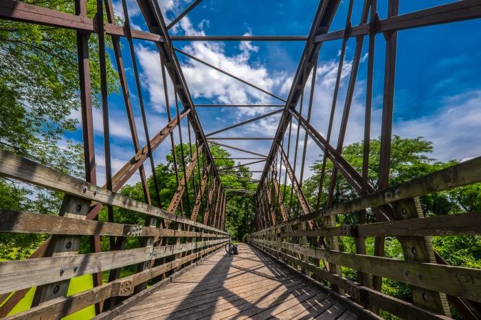 a TREK on a bridge