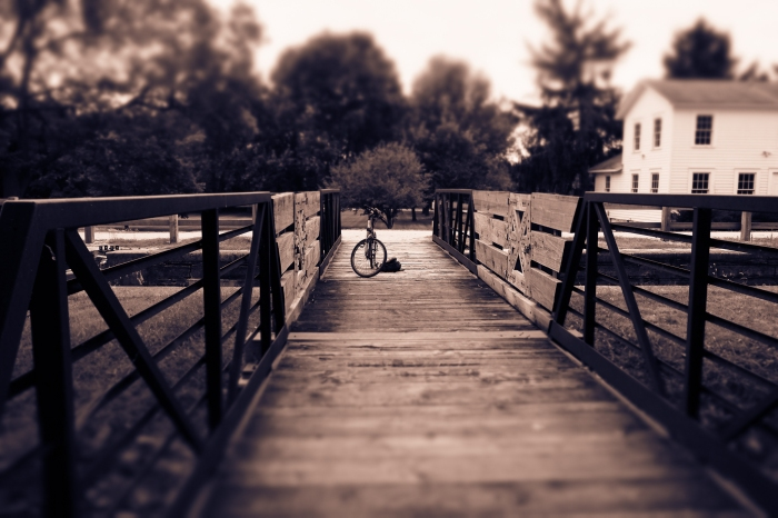 bike on bridge