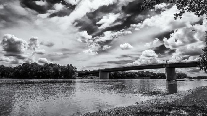bridge and clouds