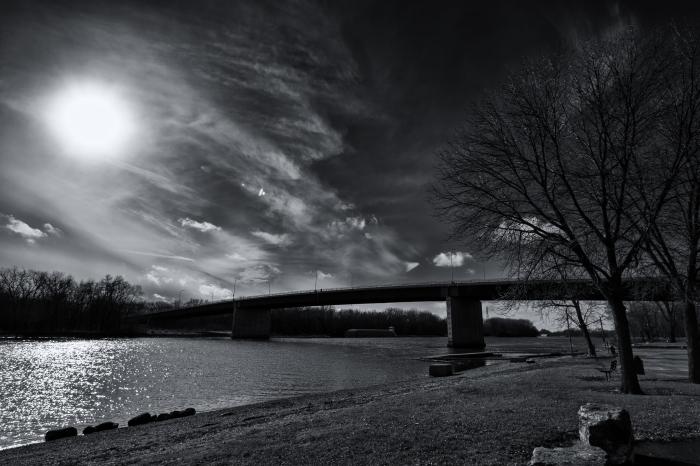 bridge and light