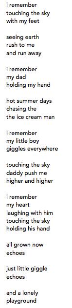 playground poem